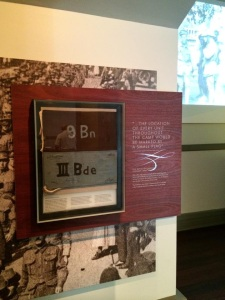 Additional jarrah panels are utilised to highlight key artifacts throughout the exhibition